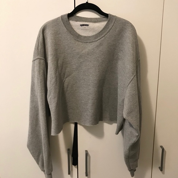 Grey cropped sweater from Urban Outfitters